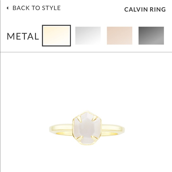 fa86a25352256 Kendra Scott Calvin Ring Mother of Pearl- Gold